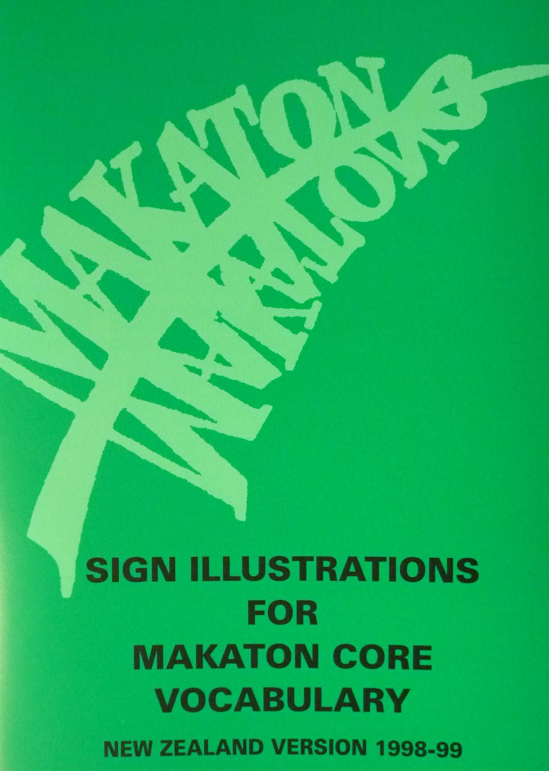 Makaton Sign Illustration for Makaton Core Vocabulary – NZ Version 1998-99 Image