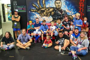 THE VODAFONE WARRIORS CELEBRATE WORLD DOWN SYNDROME DAY
