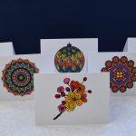 Six blank greeting cards