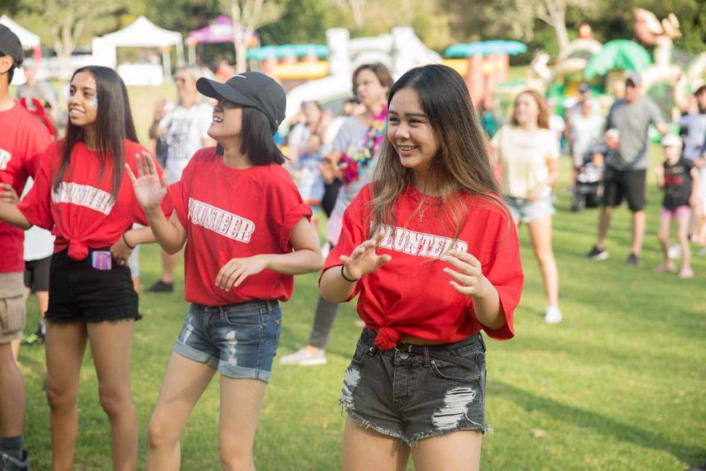 Volunteers at Buddy Walk