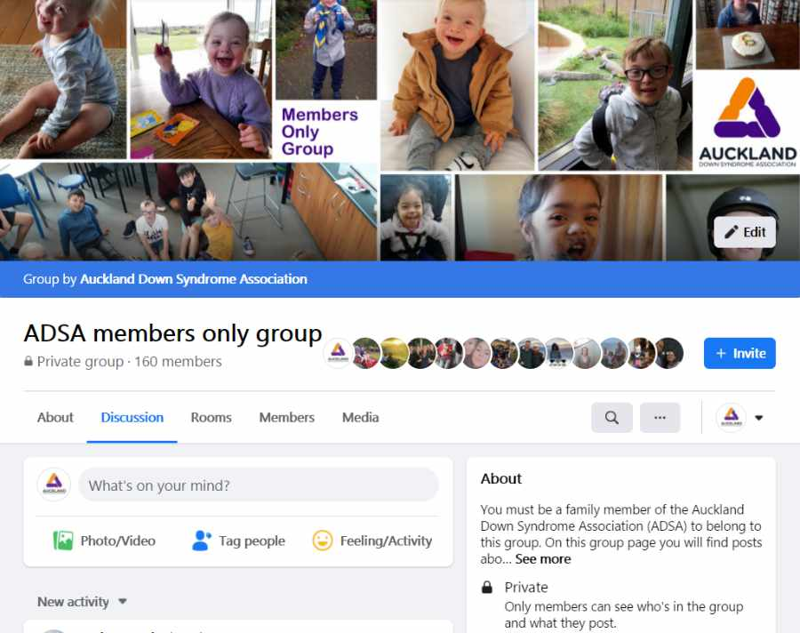 Members only Facebook group