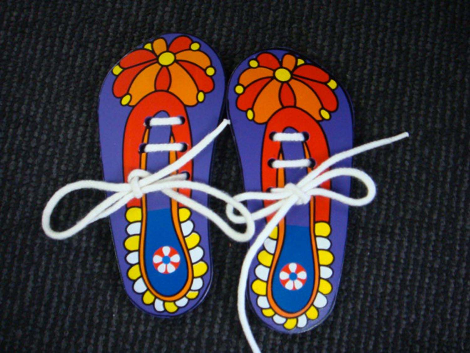 Wooden Lacing Shoes