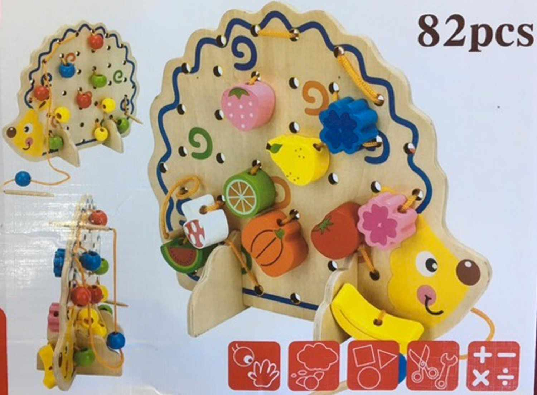 Hedgehog fruit string of beads