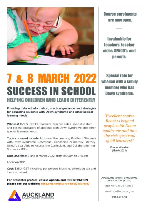 Success in School course flyer